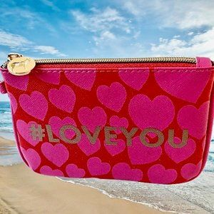 Dabney Lee Hash Tag #LOVE YOU Make-Up Coin. Purse